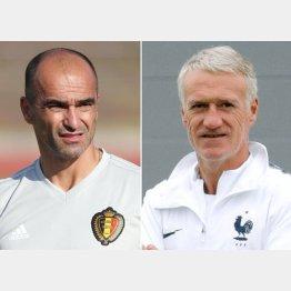 ベルギー代表監督のマルティネス氏とフランス代表監督のデシャン氏(C)ロイター