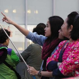 訪日外国人の数は増えている