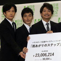 左から稲垣吾郎、草彅剛、香取慎吾