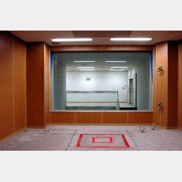 東京拘置所の「執行室」/(法務省提供)