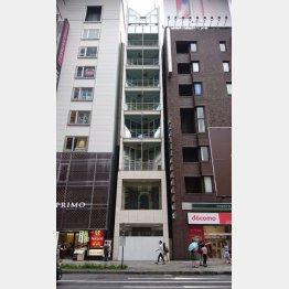 売却された「不二家銀座ビル」(中央のビル)/(C)日刊ゲンダイ