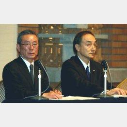 6代目社長の林太郎(左)と櫻井社長(07年)(C)日刊ゲンダイ