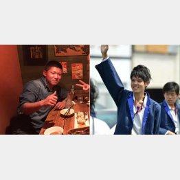 吉村容疑者(左)と吉岡容疑者(いずれもSNSから)
