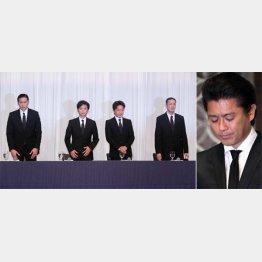 TOKIOの4人とグループを去った山口達也(右)(C)日刊ゲンダイ