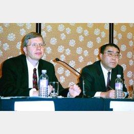 ウォルマートと西友の業務提携会見(2002年当時)/(C)日刊ゲンダイ