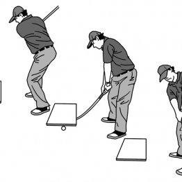 ダウンスイング後半ではヘッドと手元の位置を入れ替える