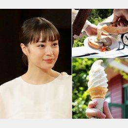 広瀬すずも食べた1番人気のラクレットオーブン(上)とアイスクリーム(共働学舎新得農場提供)