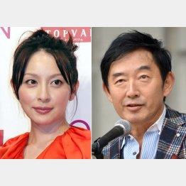 奥菜恵と石田純一(C)日刊ゲンダイ
