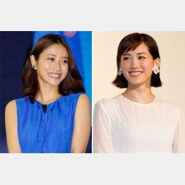 石原さとみと綾瀬はるか(C)日刊ゲンダイ