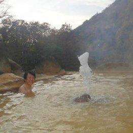 日本でここだけ 山形・広河原温泉は入浴できる「間欠泉」