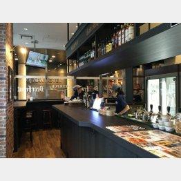 新宿・歌舞伎町のアパホテル1階にオープンした「Asahi BeerFront 歌舞伎町店」(C)日刊ゲンダイ