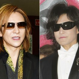「X JAPAN」のYOSHIKI(左)とToshl
