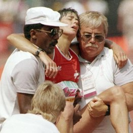 1984年ロス五輪女子マラソンのアンデルセンはフラフラでゴール