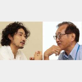 水野祐氏と二木啓孝(C)日刊ゲンダイ