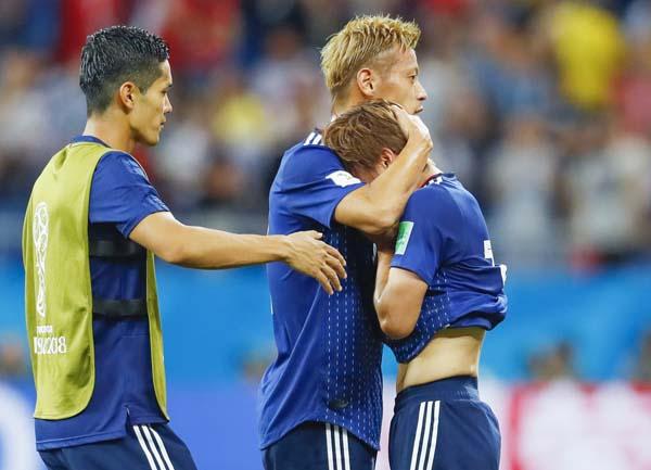 ロシアW杯ではベルギーに逆転負け(C)共同通信社