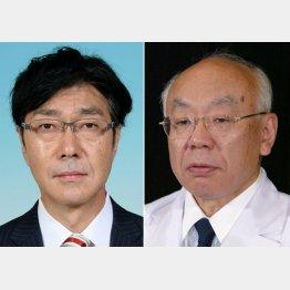 佐野太被告と臼井前理事長(C)共同通信社