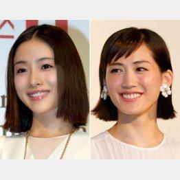 石原さとみ(左)と綾瀬はるか(C)日刊ゲンダイ