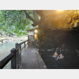 壁湯天然洞窟温泉(提供写真)