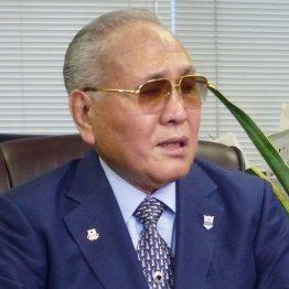 アマチュアボクシング界のドンといわれる山根会長(C)共同通信社