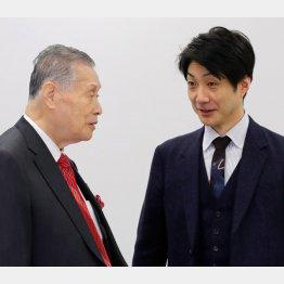 野村萬斎(右)と森喜朗会長(C)日刊ゲンダイ