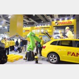 中国国際工業博覧会のファナックの出展ブース(C)共同通信社