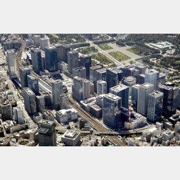 高さ390メートルの超高層ビルを含めた再開発エリア(C)共同通信社