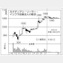 カナディアンソーラーインフラ投資法人(C)日刊ゲンダイ