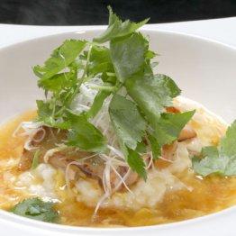 【親子丼リゾット】口の中で卵とご飯がフワッと溶ける