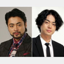 山田孝之(左)と菅田将暉(C)日刊ゲンダイ