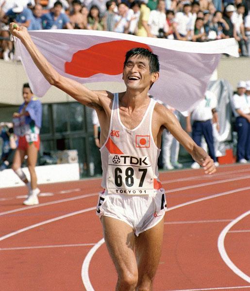 91年世界陸上は谷口が日本初の金メダルを獲得したが……(C)共同通信社