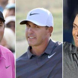 今年のメジャー王者は3人とも契約なし(左からリード、ケプカ、モリナリ)