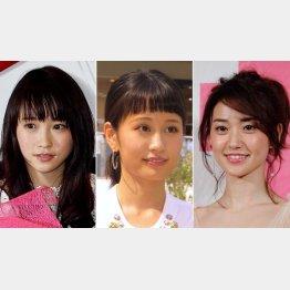 左から川栄李奈、前田敦子、大島優子(C)日刊ゲンダイ