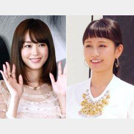 桐谷美玲と前田敦子(C)日刊ゲンダイ