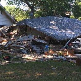 全壊したアシュリーさんの家