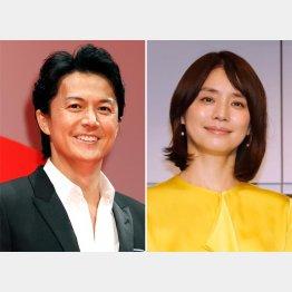 福山雅治(左)と石田ゆり子(C)日刊ゲンダイ