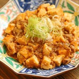 【厚揚げの麻婆豆腐】揚げにしみ込んだピリ辛がたまらない