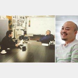 原田さんは(左)当時慶大3年だった(提供写真)