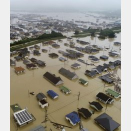 西日本豪雨雨も人災か(C)共同通信社