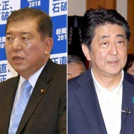石破元幹事長と安倍首相
