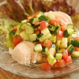 【蒸し鶏のマリネ】夏バテ気味でも食欲が湧く一品