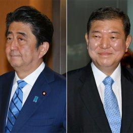 安倍首相(左)は「地方向け」ビデオ撮影のため一時帰京