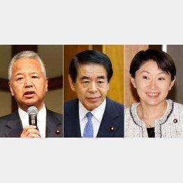 左から甘利明氏、下村博文氏、小渕優子氏(C)日刊ゲンダイ