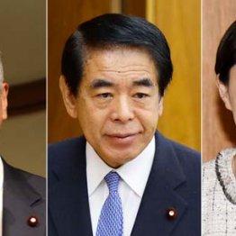 左から甘利明氏、下村博文氏、小渕優子氏