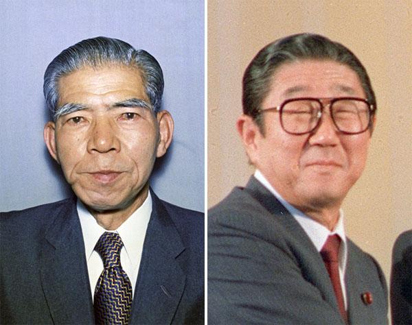 石破二朗氏(左)と安倍晋太郎氏(C)共同通信社