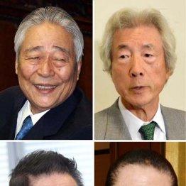 左上から時計回りで青木幹雄元参院議員会長、小泉純一郎元首相、山崎拓元副総裁、古賀誠元幹事長