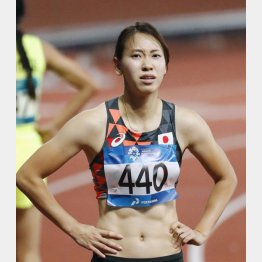 100メートルは予選で敗退した福島(C)共同通信社