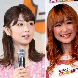 小倉優子(左)とギャル曽根