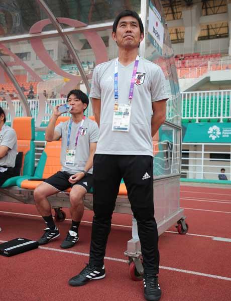 「選手はタイトルを狙っている」と話す森保監督(C)Norio ROKUKAWA/Office La Strada