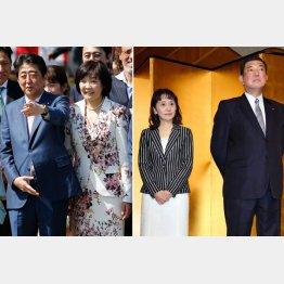 安倍夫妻と石破夫妻(C)日刊ゲンダイ