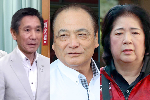 (左から)具志堅副会長、塚原光男副会長、塚原千恵子強化本部長(C)日刊ゲンダイ